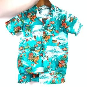 Aloha Republic Toddler Boy 4T Hawaiian Shirt Short